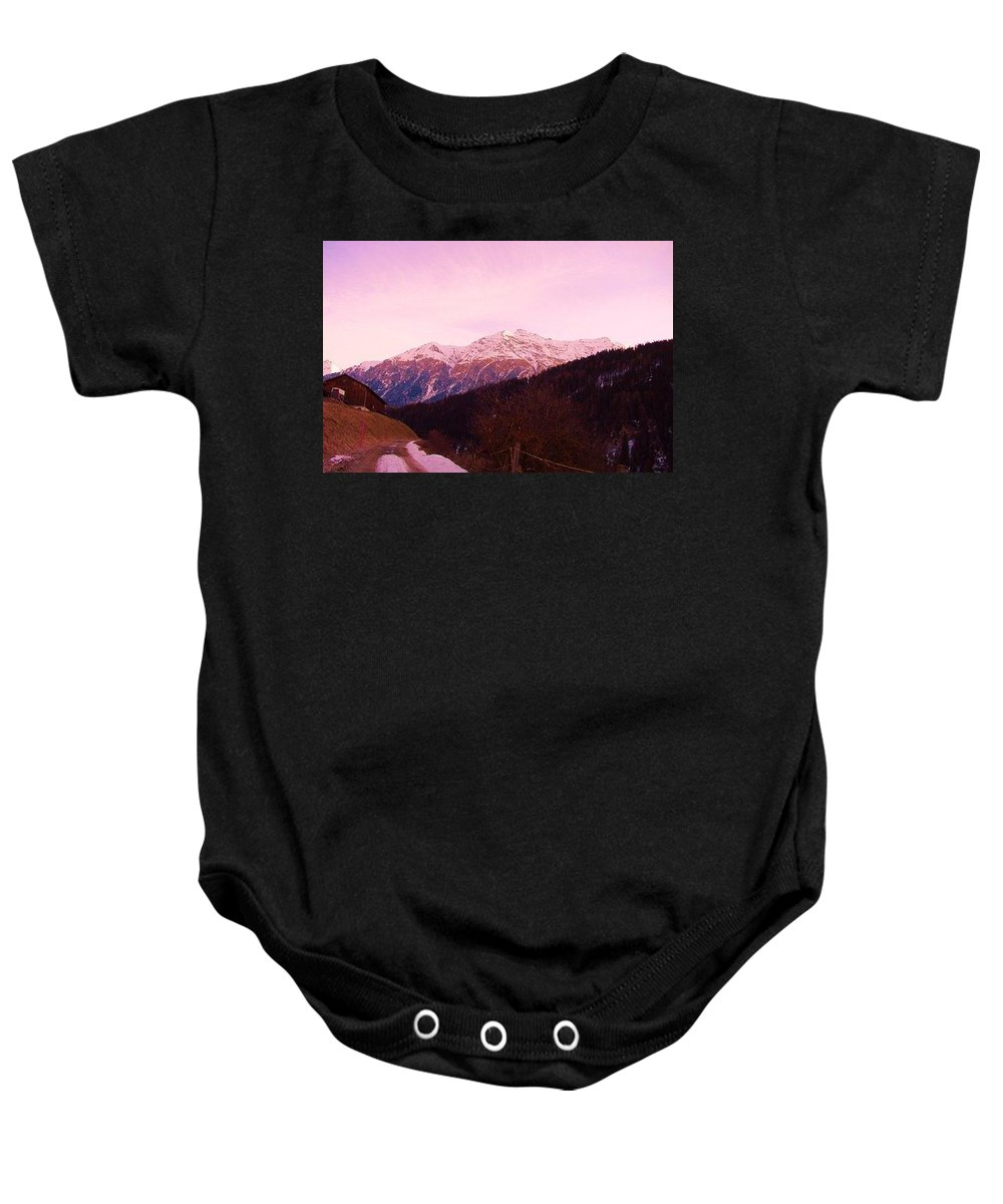 Switzerland Baby Onesie featuring the photograph Acquaton by Nila Poduschco