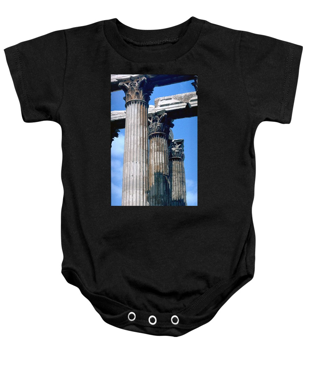 Acropolis Baby Onesie featuring the photograph Acropolis by Flavia Westerwelle