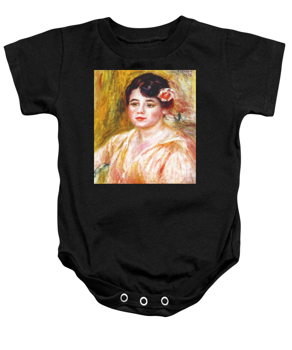 Adele Baby Onesie featuring the painting Adele Besson 1918 by Renoir PierreAuguste
