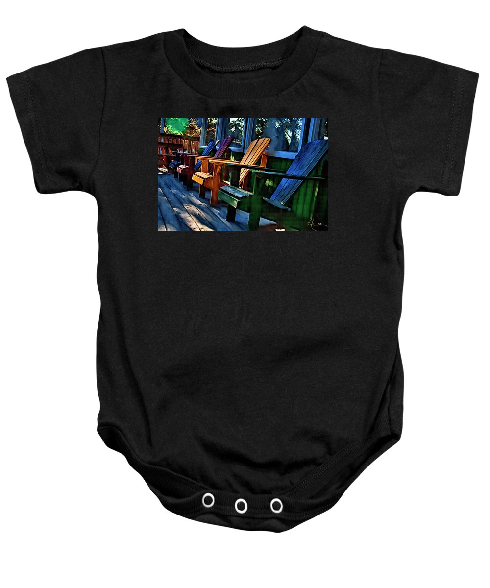 Adirondack Baby Onesie featuring the photograph Adirondack by Monte Arnold