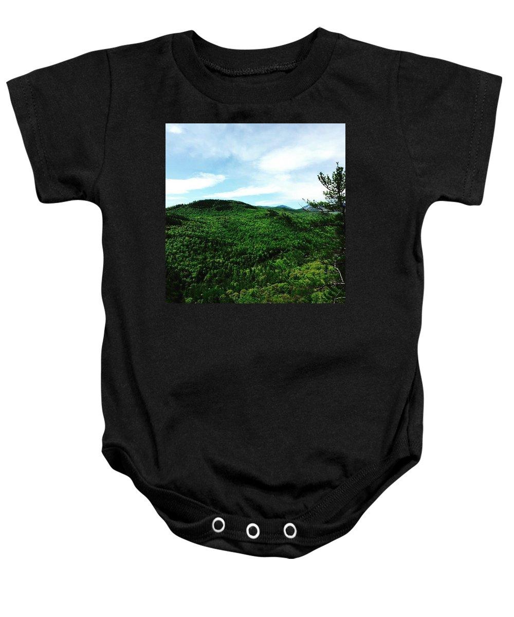 Adirondack Baby Onesie featuring the photograph Adirondacks by Nicole Prohaska