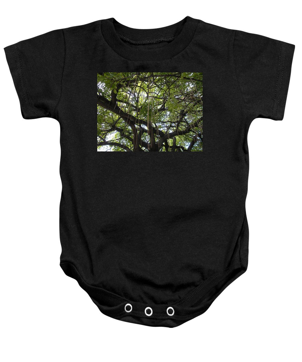 Trees Baby Onesie featuring the photograph Aerial Network I by Maria Bonnier-Perez