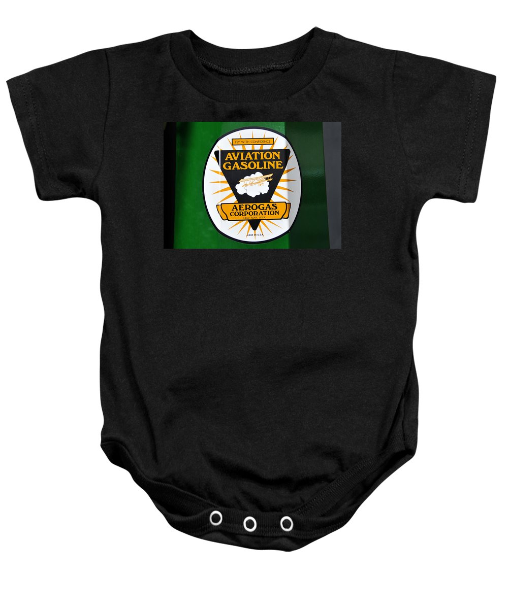 Fine Art Photography Baby Onesie featuring the photograph Aerogas Green Pump by David Lee Thompson
