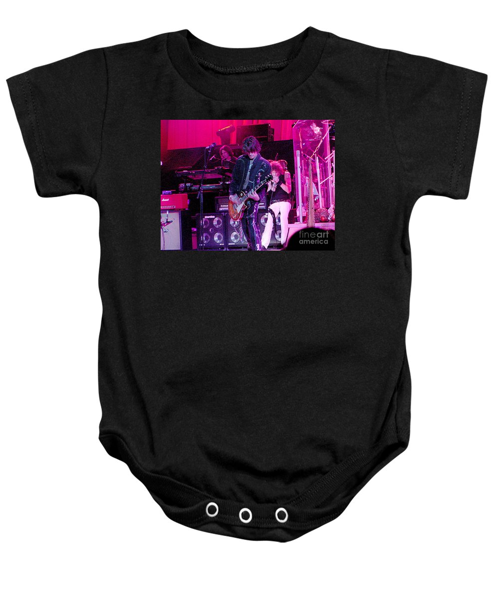 Aerosmith Baby Onesie featuring the photograph Aerosmith- Joe Perry-00027 by Gary Gingrich Galleries