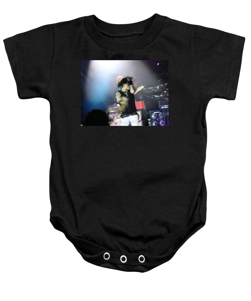 Aerosmith Baby Onesie featuring the photograph Aerosmith-steven Tyler-00188 by Gary Gingrich Galleries