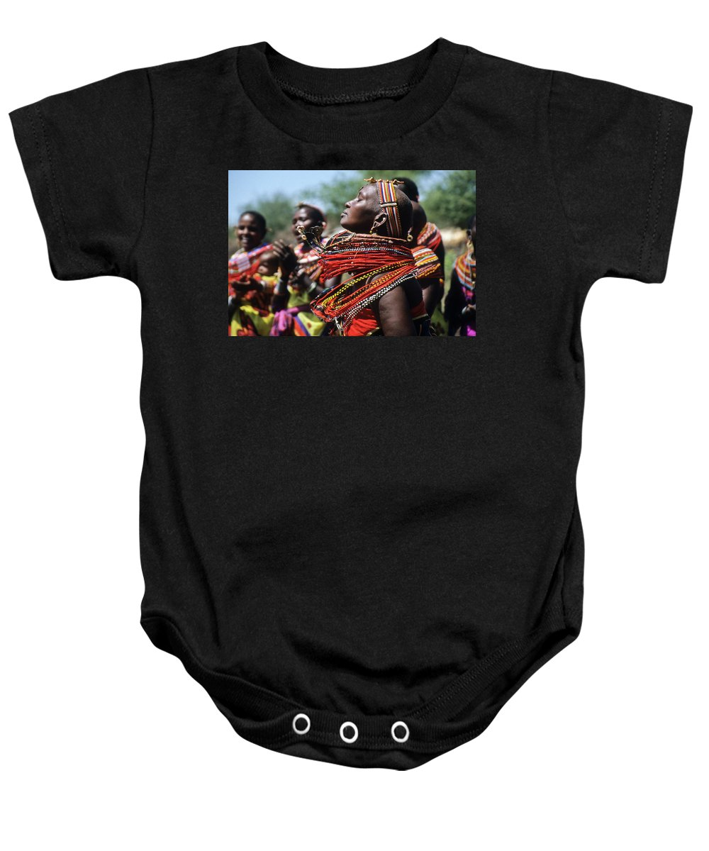 Africa Baby Onesie featuring the photograph African Rhythm by Michele Burgess