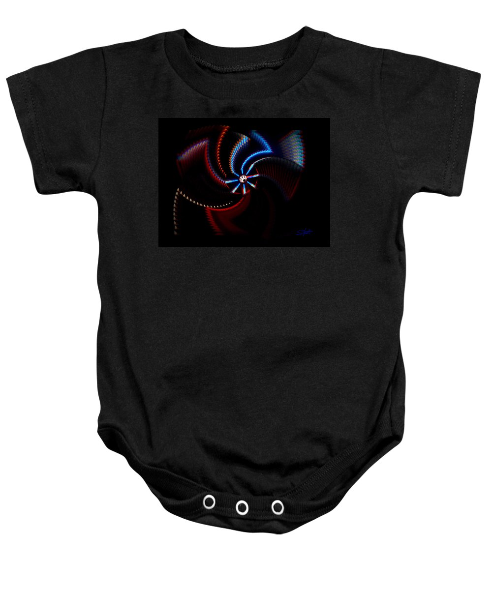 Chaos Baby Onesie featuring the photograph After Shock by Charles Stuart