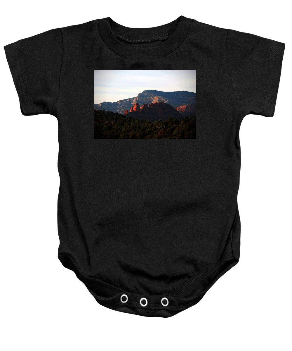 Photography Baby Onesie featuring the photograph After Sunset In Sedona by Susanne Van Hulst