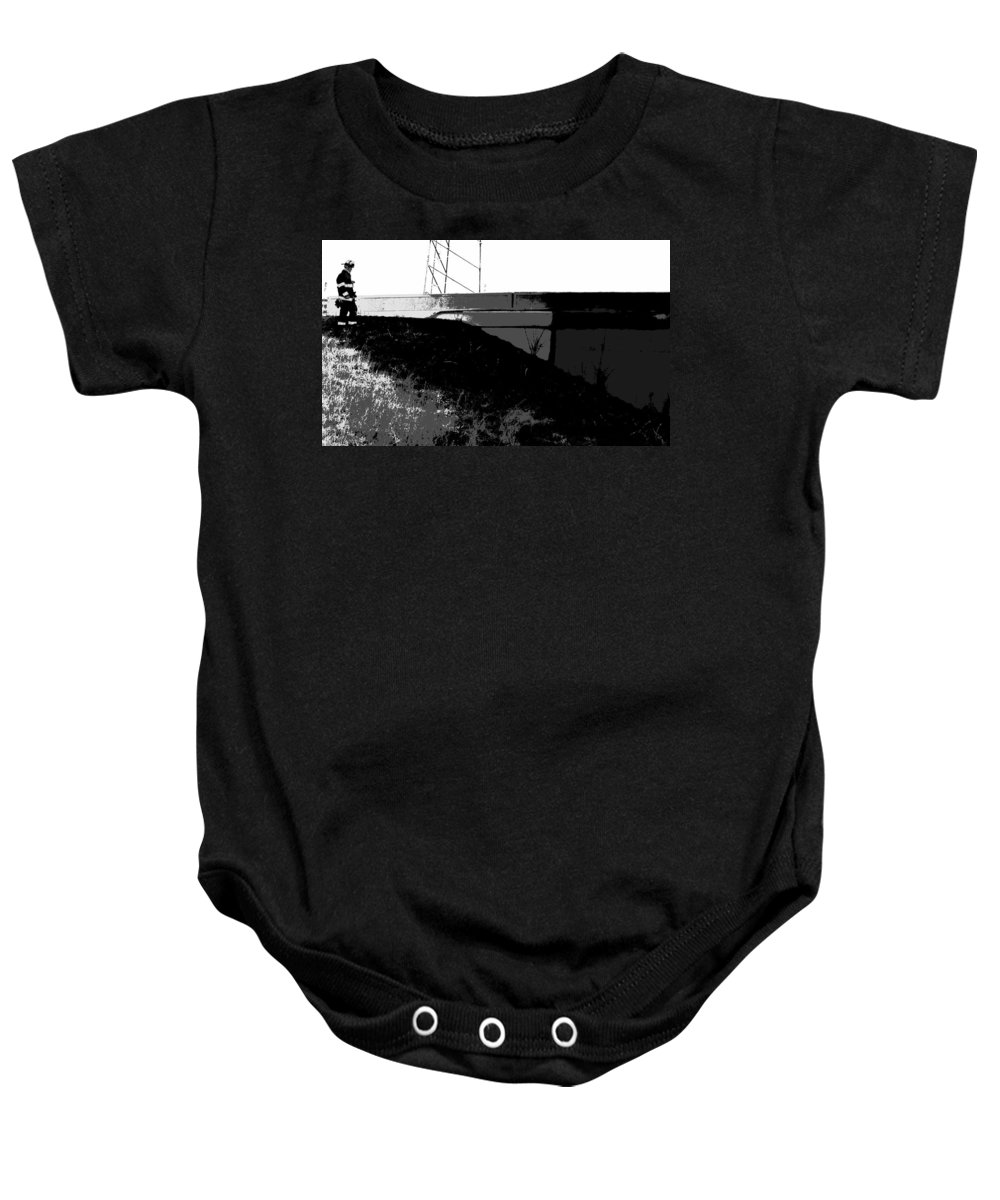 After The Fire Baby Onesie featuring the photograph After The Fire by Ed Smith