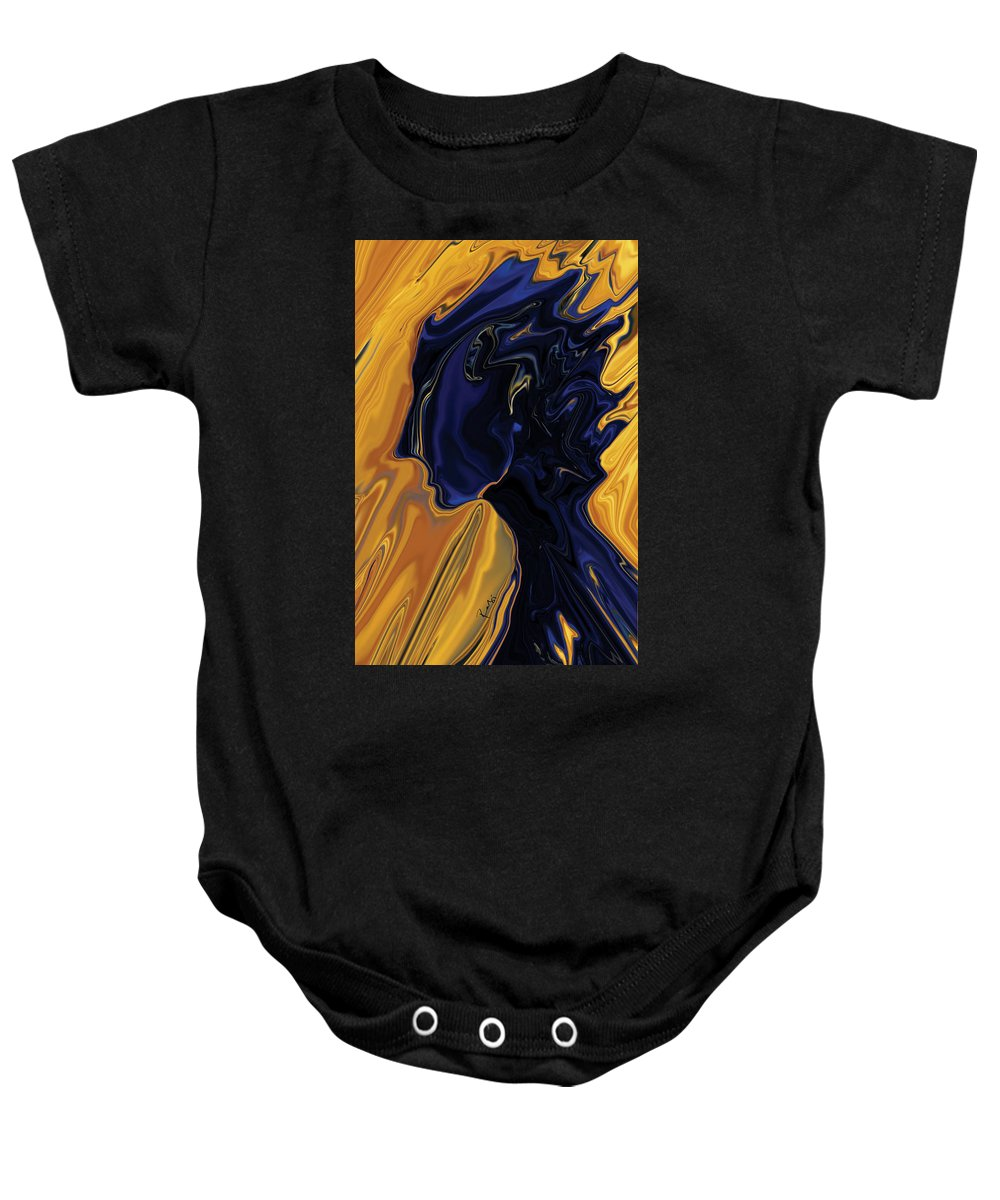 Abstract Baby Onesie featuring the digital art Against The Wind by Rabi Khan