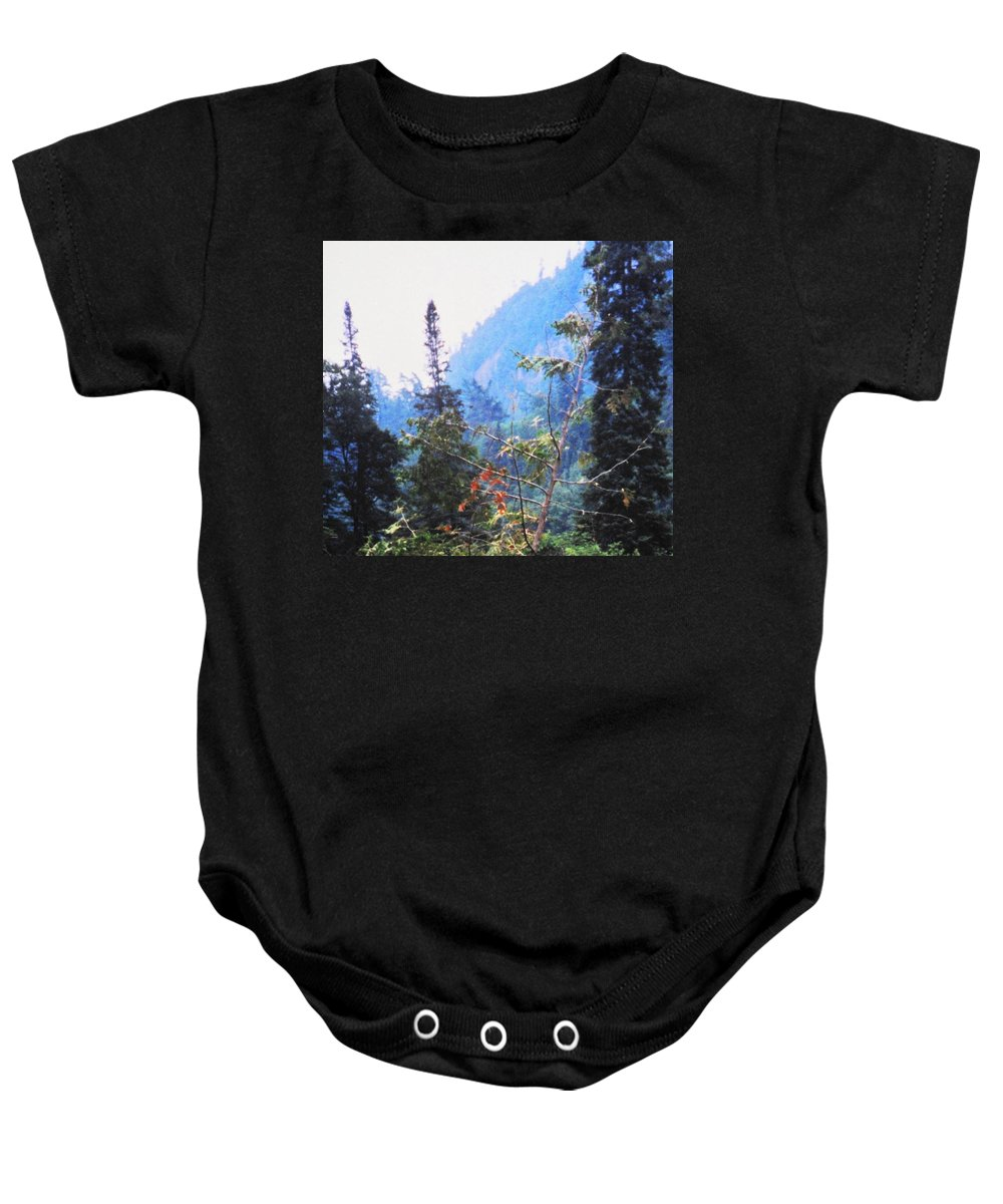 Agawa Baby Onesie featuring the photograph Agawa Canyon by Ian MacDonald