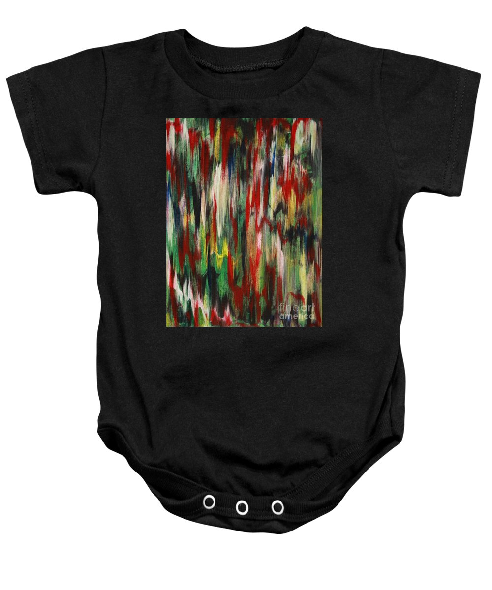 Abstract Baby Onesie featuring the painting Agony by Jacqueline Athmann
