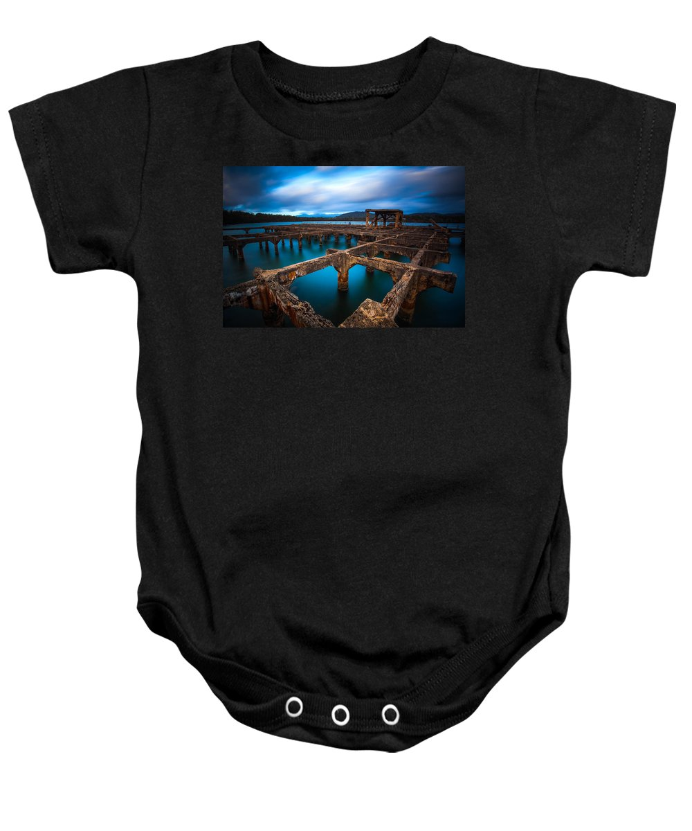 Sunrise Baby Onesie featuring the photograph Ahukini by Kenway Kua