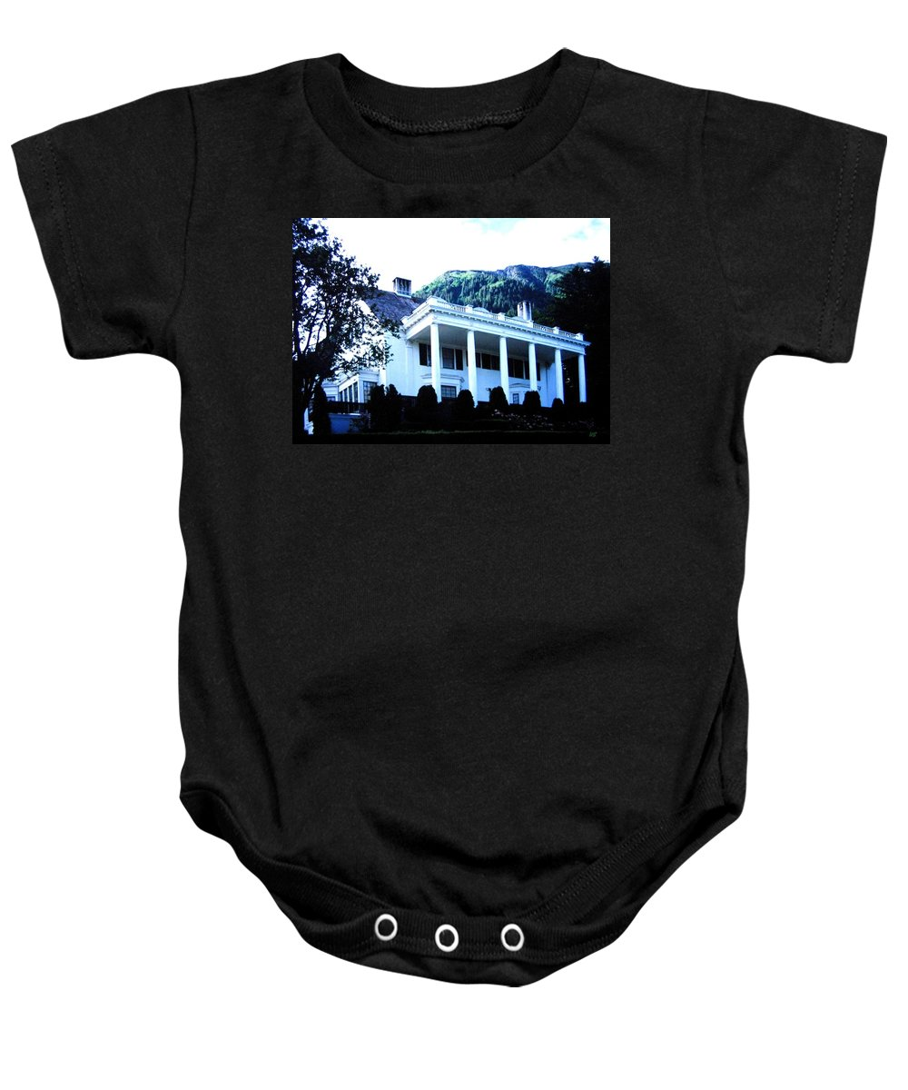 Alaska Baby Onesie featuring the photograph Alaska Governors Mansion by Will Borden