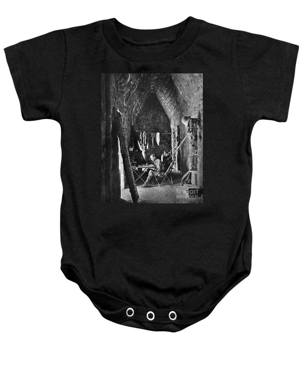 1889 Baby Onesie featuring the painting Alfred Percival Maudslay by Granger