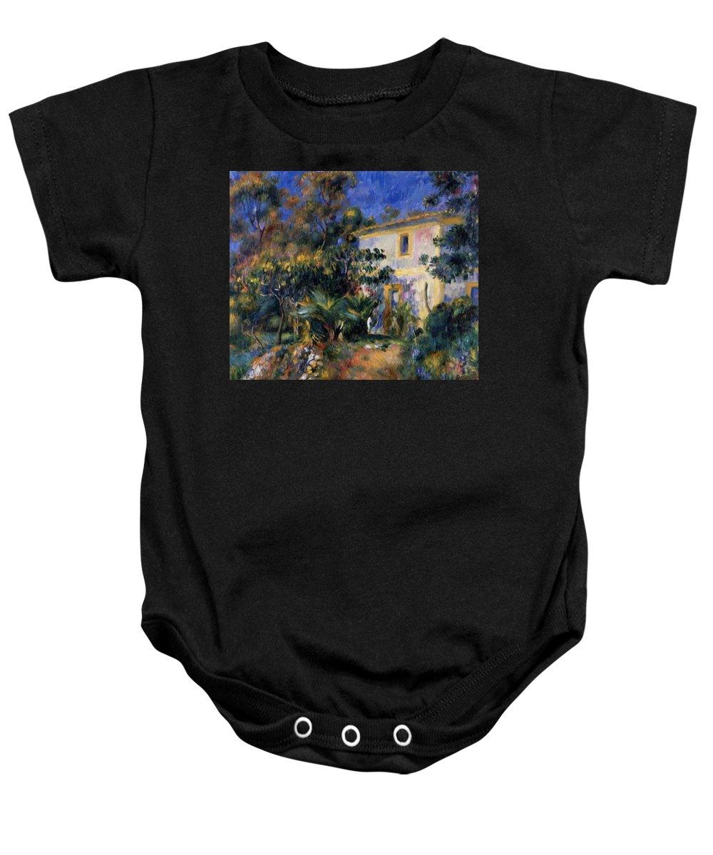 Algiers Baby Onesie featuring the painting Algiers Landscape 1895 by Renoir PierreAuguste