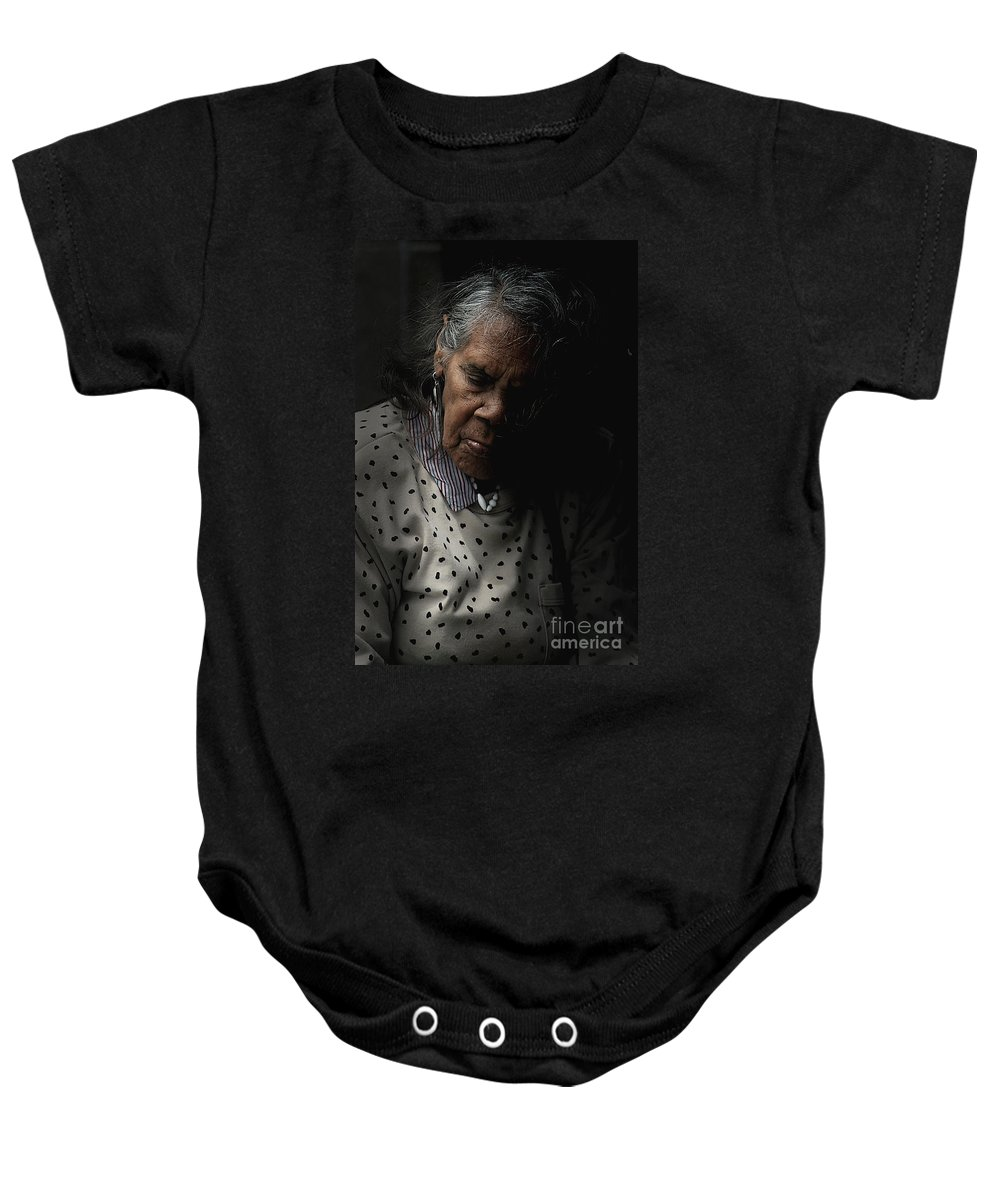 Portrait Baby Onesie featuring the photograph Alice by Sheila Smart Fine Art Photography