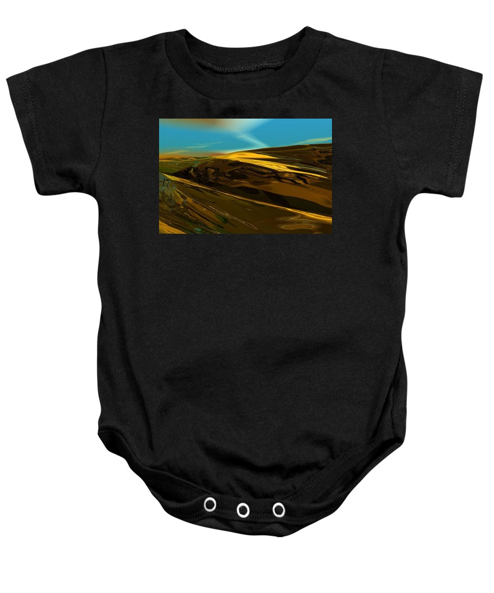 Landscape Baby Onesie featuring the digital art Alien Landscape 2-28-09 by David Lane