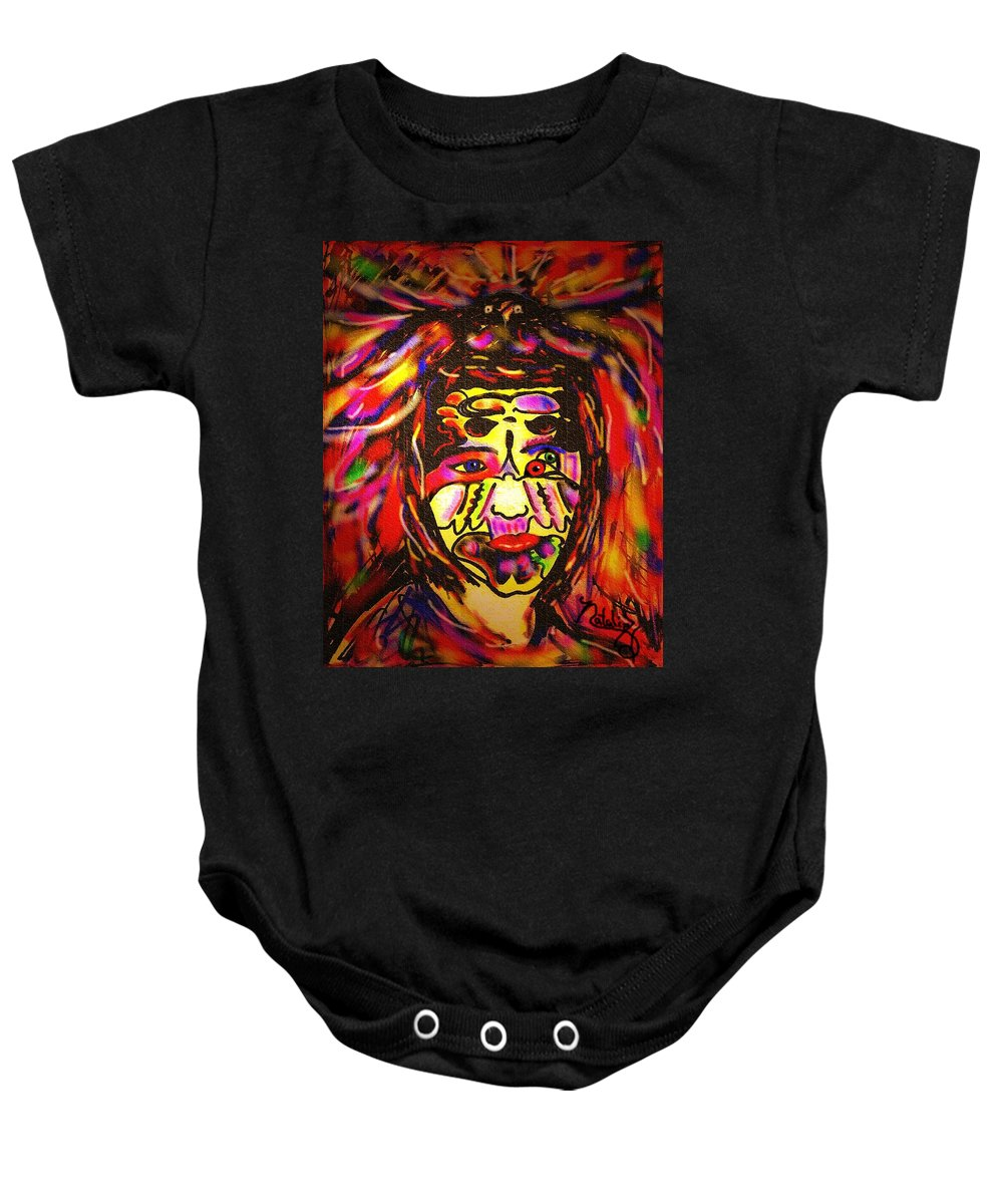 Man Baby Onesie featuring the painting All Seeing Eye by Natalie Holland
