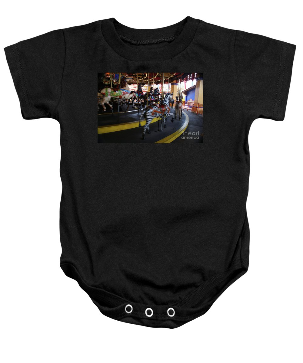 Horse Baby Onesie featuring the photograph All The Pretty Ponies by Linda Shafer