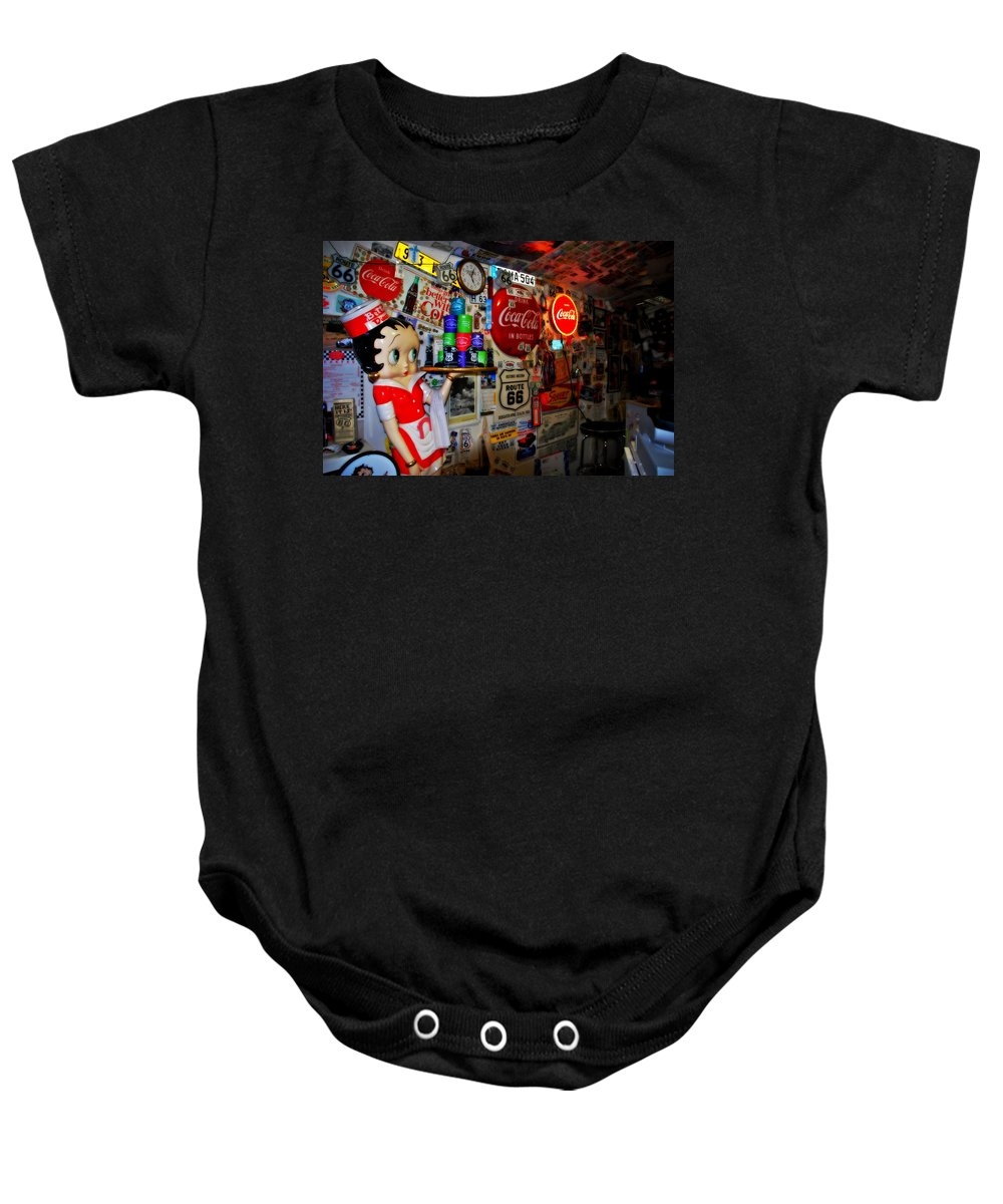 Route 66 Baby Onesie featuring the photograph All The Souvenirs Of Route 66 by Susanne Van Hulst