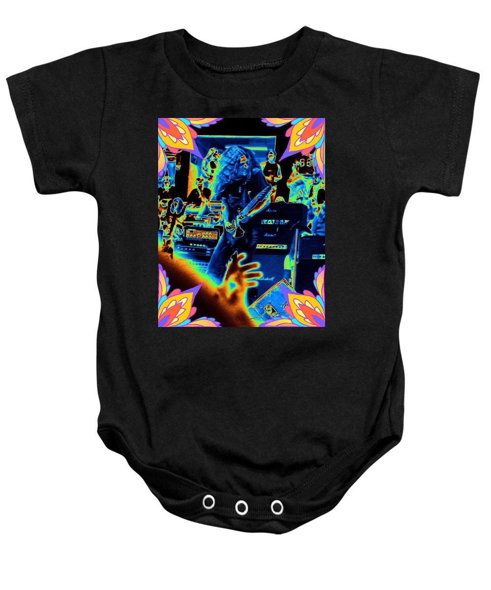 Allen Collins Baby Onesie featuring the photograph Allen Cosmic Free Bird Oakland 1 by Ben Upham
