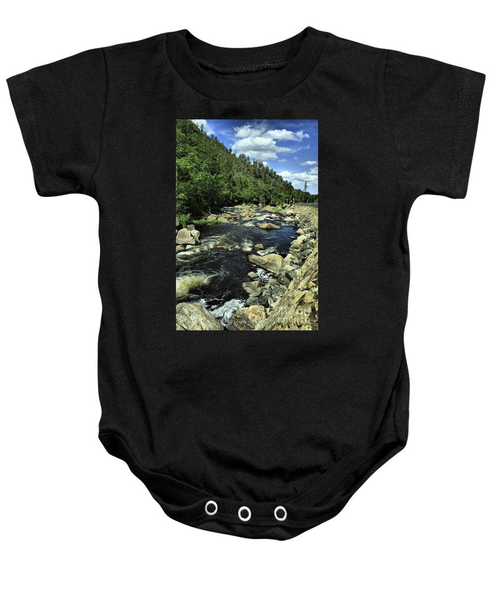 River Baby Onesie featuring the photograph Along Rt3 New York by Deborah Benoit