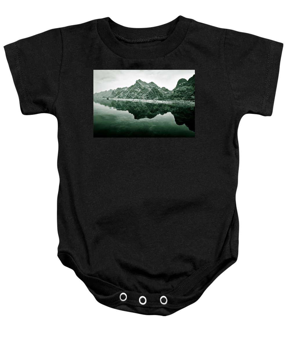 Yen Baby Onesie featuring the photograph Along The Yen River by Dave Bowman