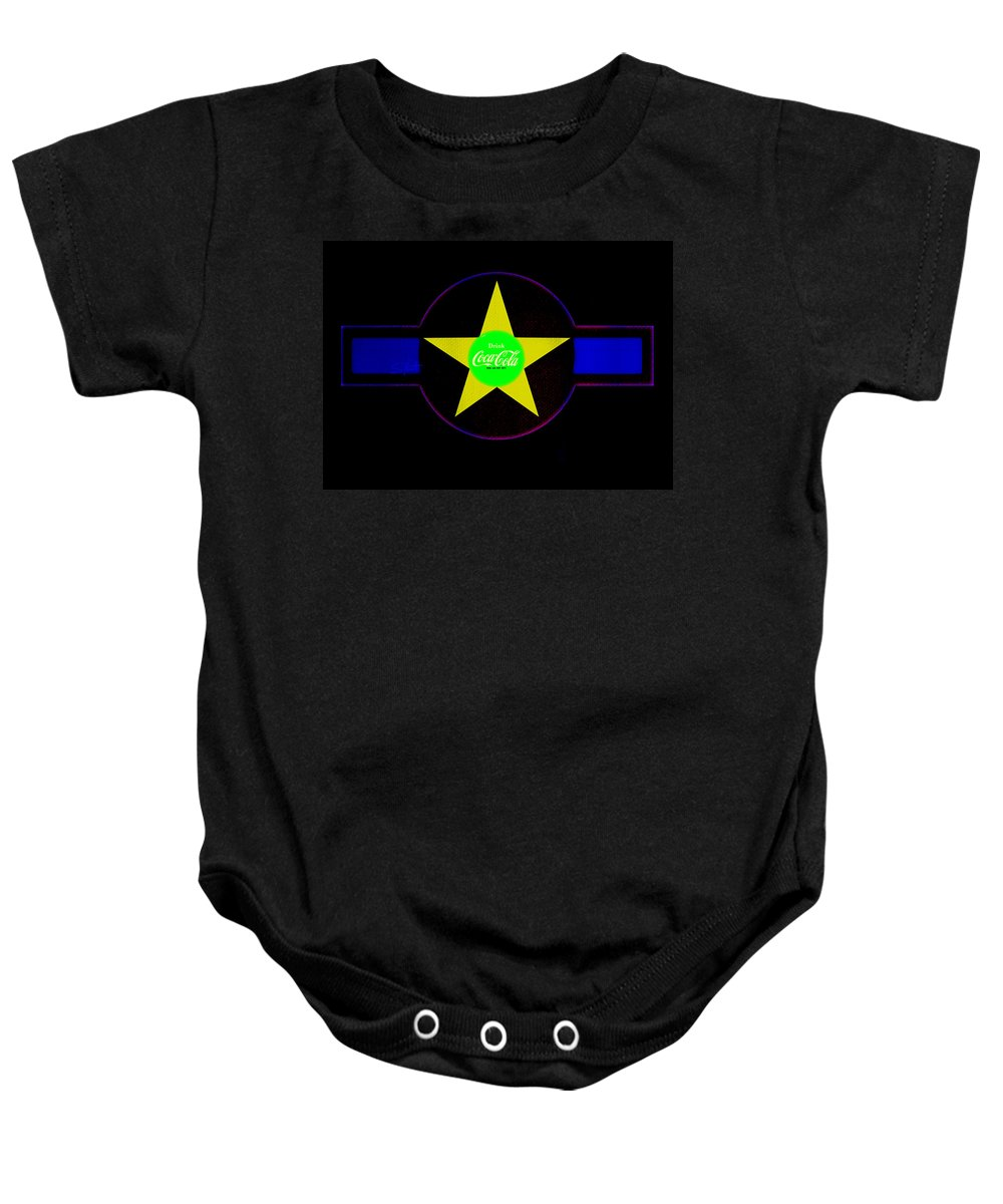 Label Baby Onesie featuring the painting American Image by Charles Stuart