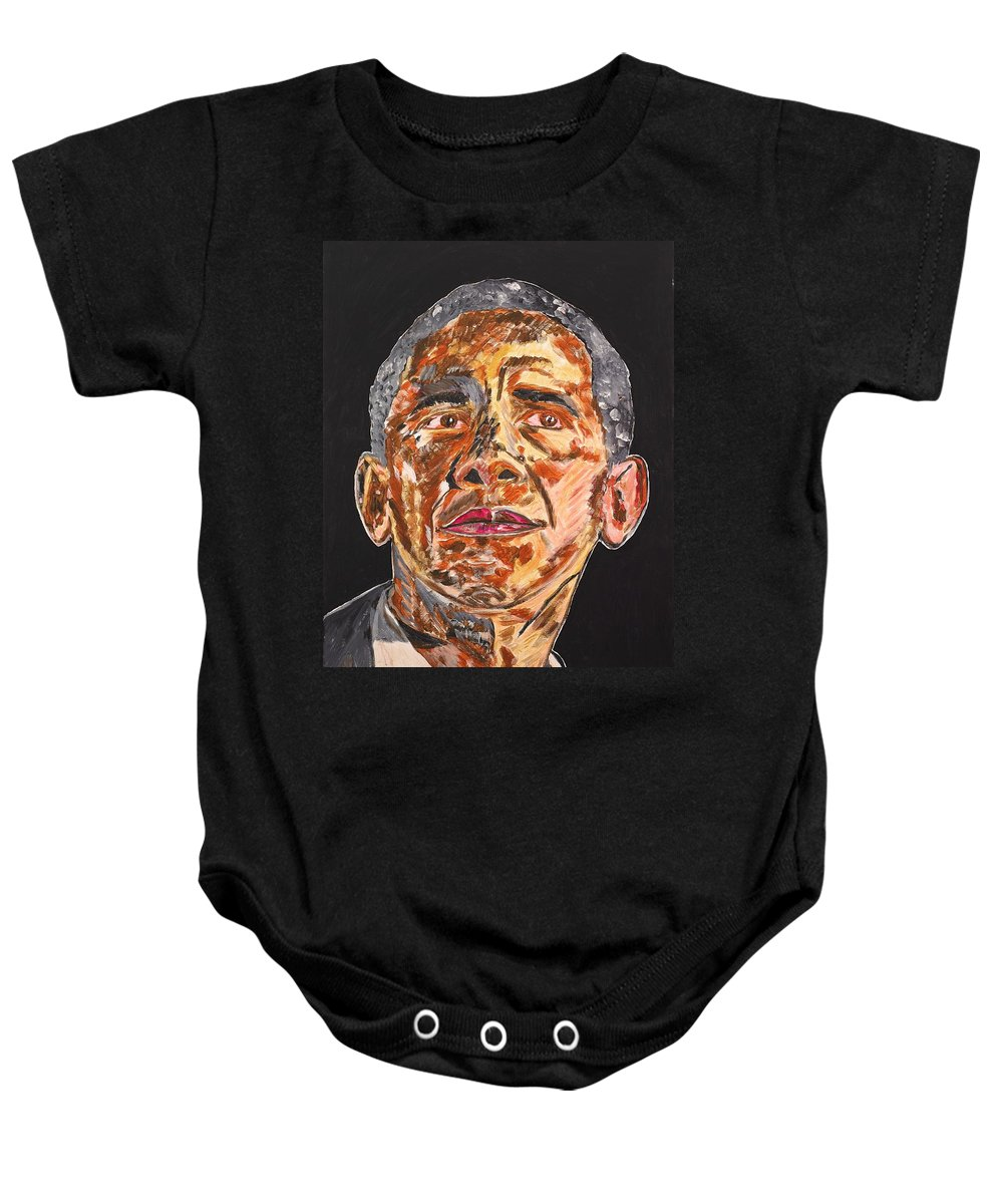 American Baby Onesie featuring the painting American by Valerie Ornstein