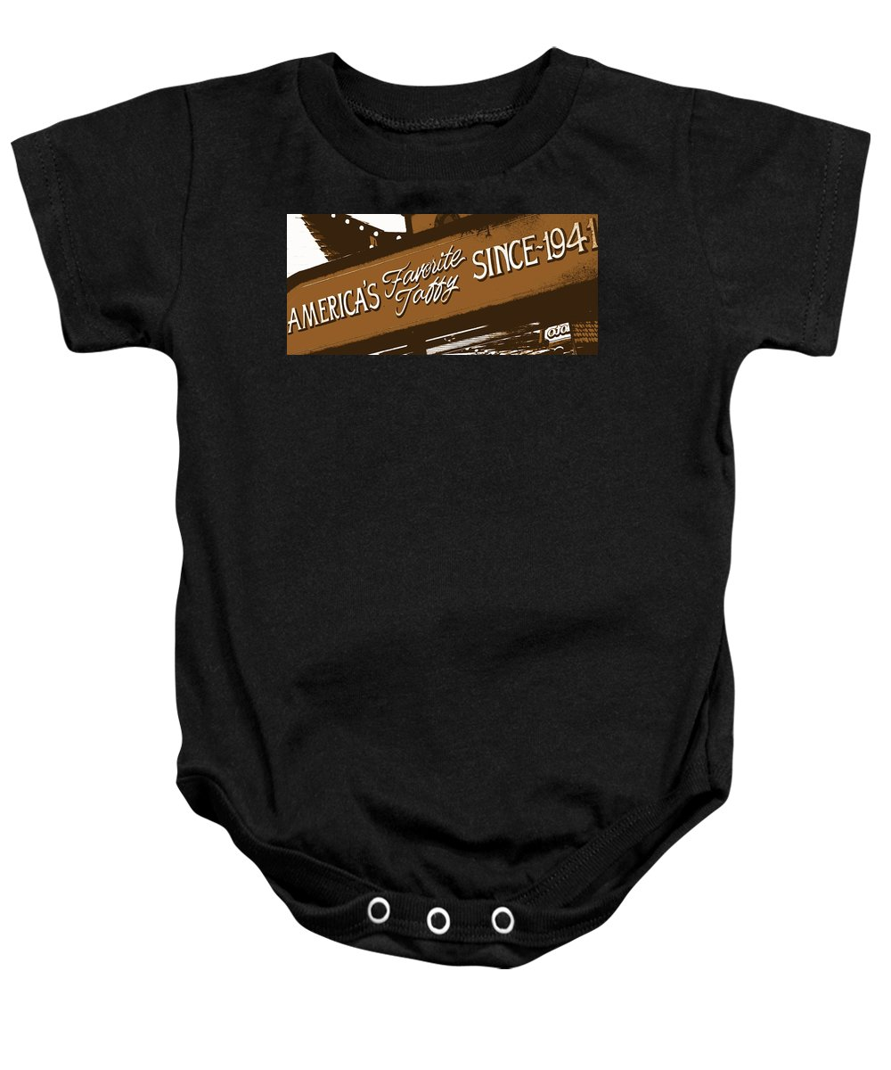 Still Life Baby Onesie featuring the photograph America's Favorite Taffy by Ed Smith
