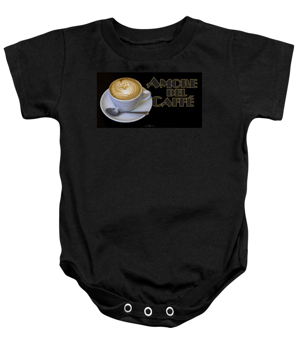 Coffee Baby Onesie featuring the photograph Amore Del Caffe Poster by Tim Nyberg