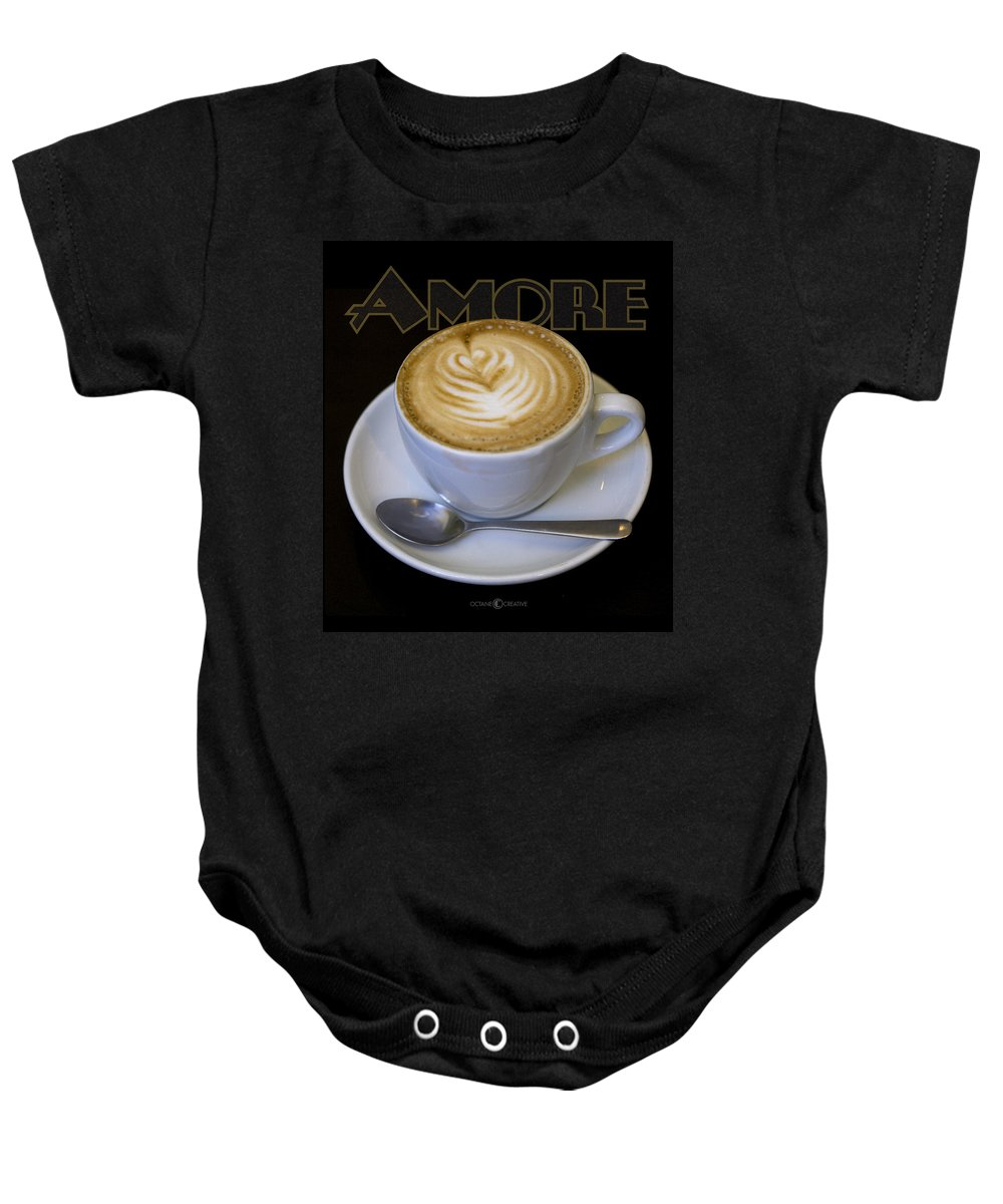 Coffee Baby Onesie featuring the photograph Amore Poster by Tim Nyberg