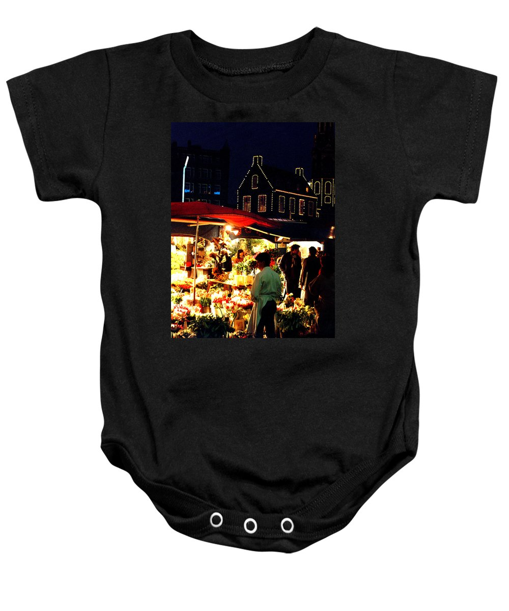 Flowers Baby Onesie featuring the photograph Amsterdam Flower Market by Nancy Mueller