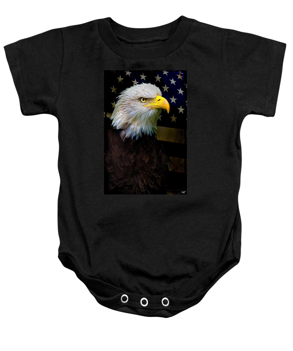 Eagle Baby Onesie featuring the photograph An American Icon by Chris Lord