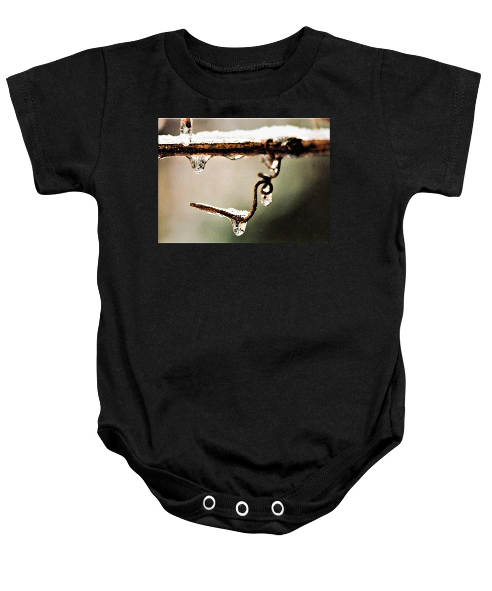 Frozen Baby Onesie featuring the photograph An Unwrapped Twizzle by Dennis Symes