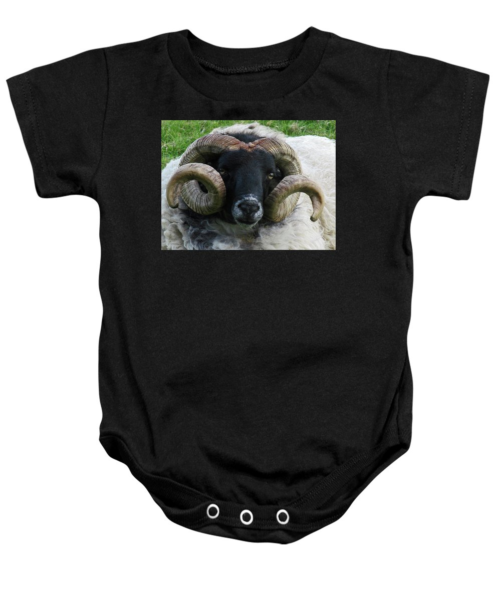 Bighorn Baby Onesie featuring the photograph Anchored In Grace by Dawn Richerson
