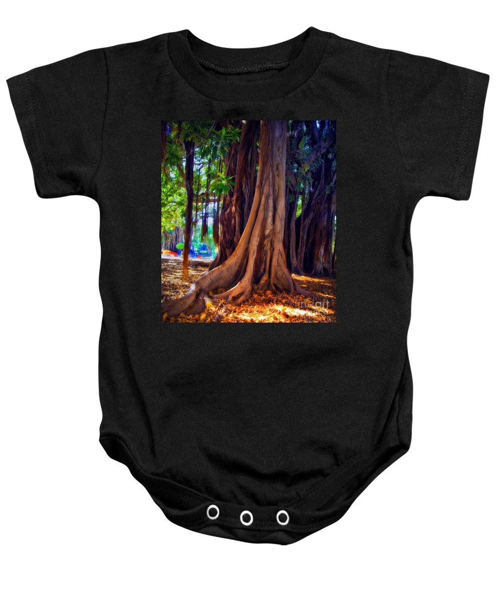 Baby Onesie featuring the photograph Ancient Roots Of Sicily by Madeline Ellis