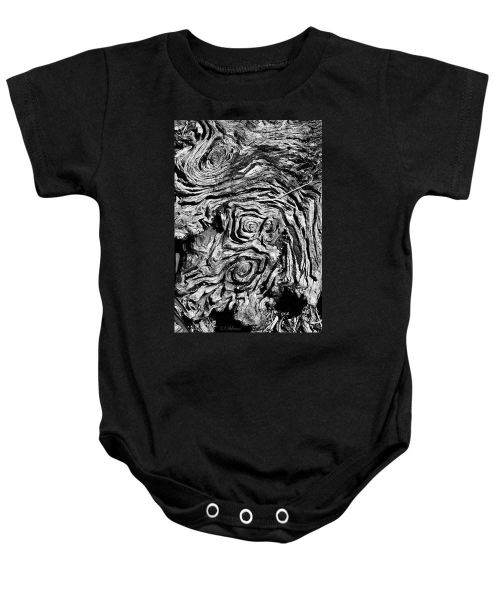 Tree Baby Onesie featuring the photograph Ancient Stump by Christopher Holmes