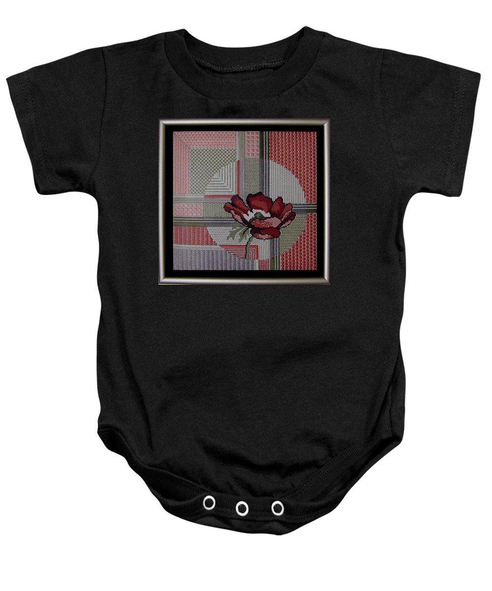 Thread Baby Onesie featuring the tapestry - textile Anemonie by Shirley Heyn