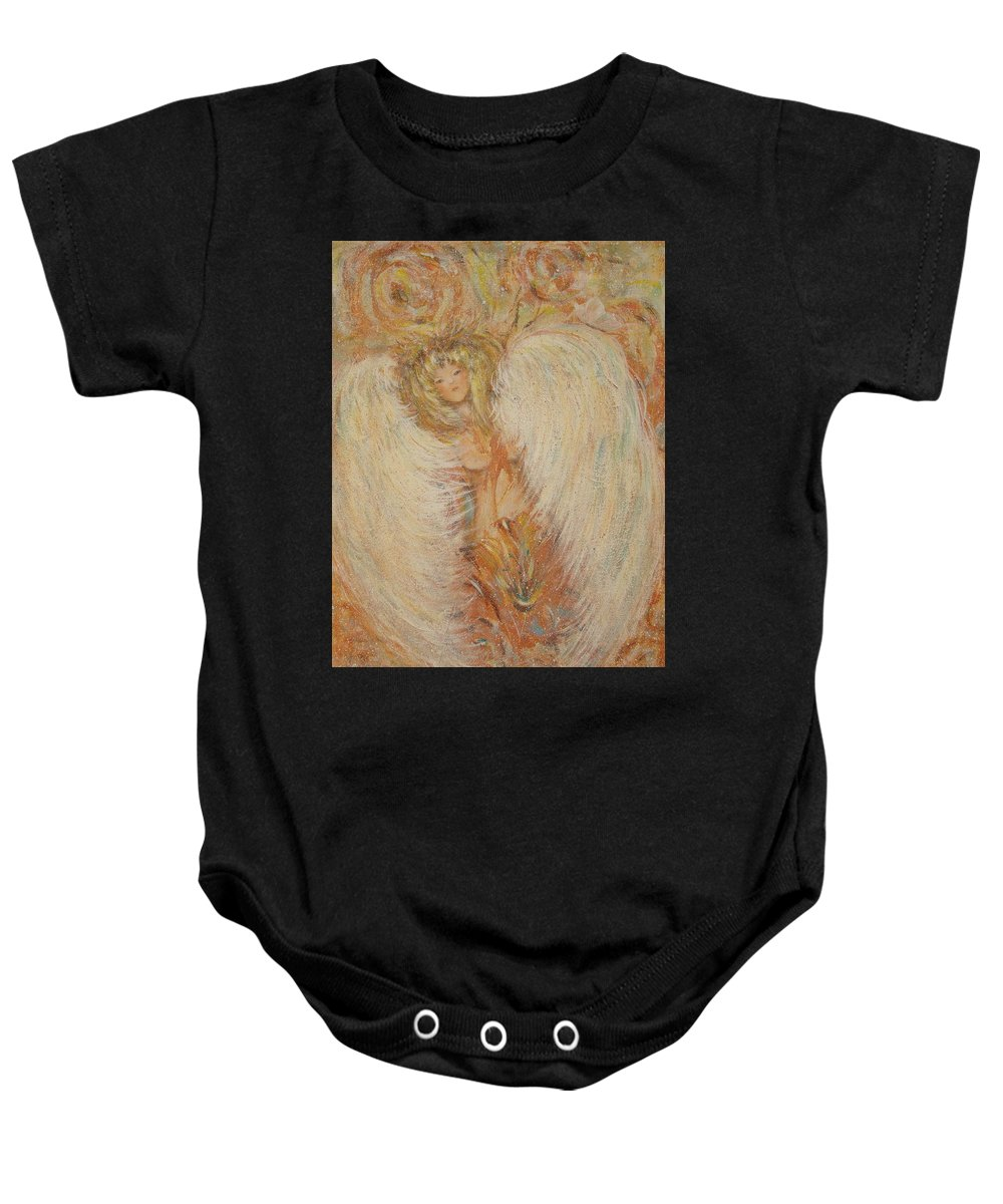 Angel Baby Onesie featuring the painting Angel Loves You by Natalie Holland