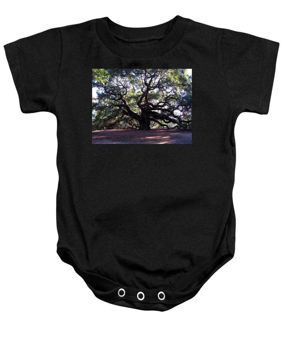 Photography Baby Onesie featuring the photograph Angel Oak II by Susanne Van Hulst