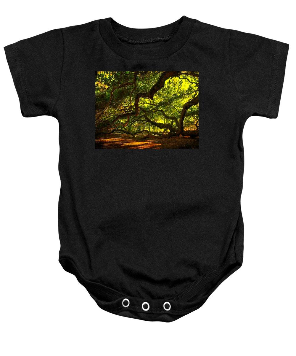 Angel Oak Baby Onesie featuring the photograph Angel Oak Limbs 2 by Susanne Van Hulst