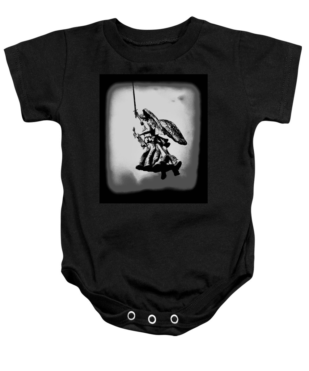 Angel Baby Onesie featuring the photograph Angel Of Gettysburg by Bill Cannon