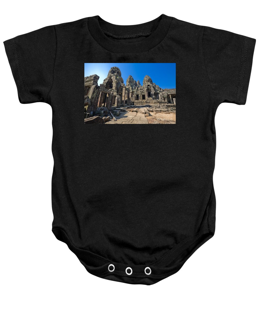 Adorn Baby Onesie featuring the photograph Angkor Thom Landscape by Bill Brennan - Printscapes