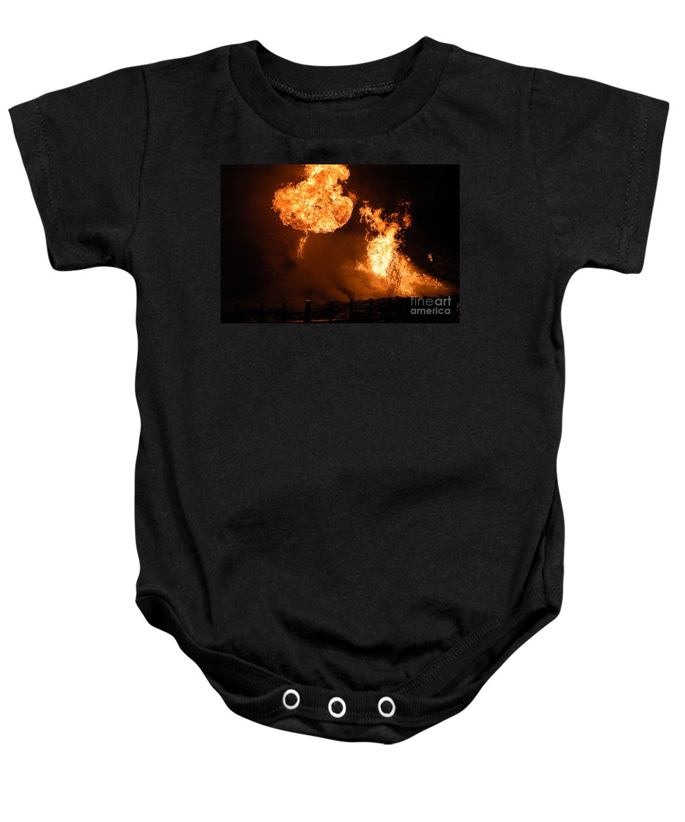 Clay Baby Onesie featuring the photograph Angry Face by Clayton Bruster