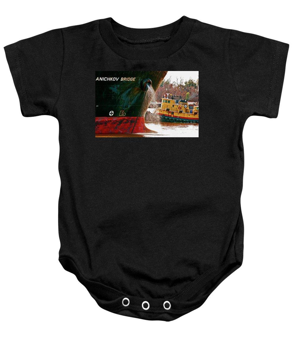 Ship Baby Onesie featuring the photograph Anichkov Bridge by Kathleen K Parker