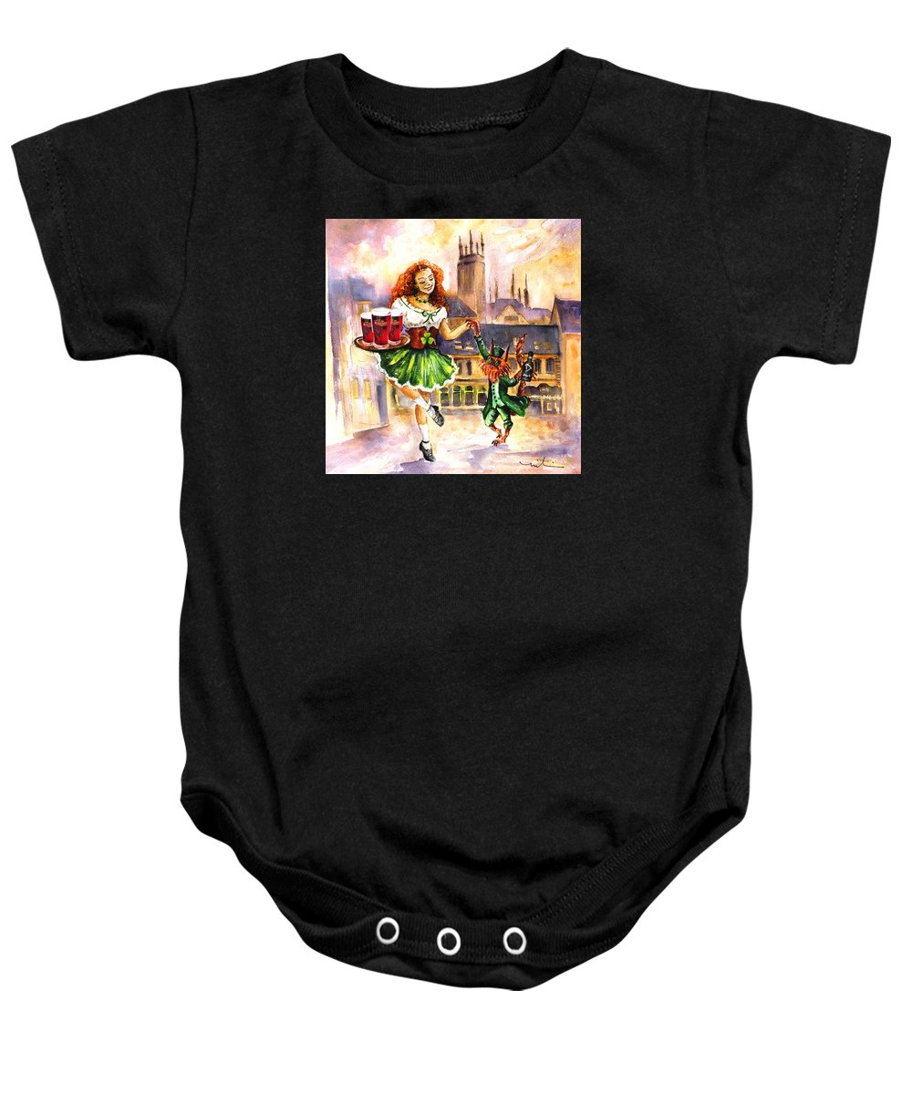 Ireland Baby Onesie featuring the painting Anny Kilkenny by Miki De Goodaboom