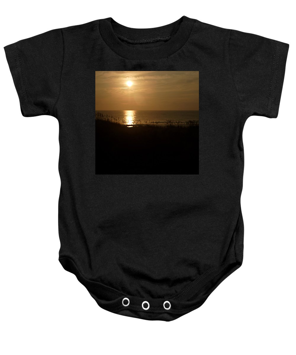 Color Baby Onesie featuring the photograph Another Day Ends by Jean Macaluso