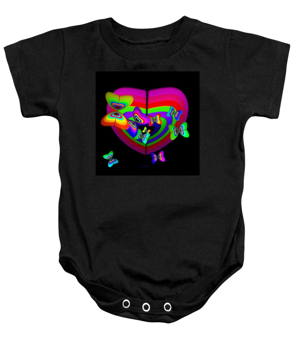 Baby Onesie featuring the digital art Anticipation by Charles Stuart